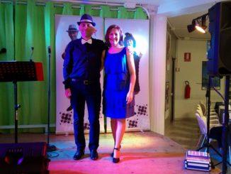 Cinzia e Roberto sul palco di Gabelletta