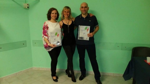 Consegna del diploma di maestri di ballo
